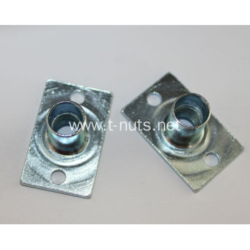 Rectangular flat carbon steel welded nuts